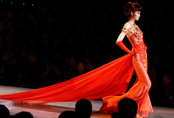 Highlights from China Fashion Week ... the Ordifen lingerie show.