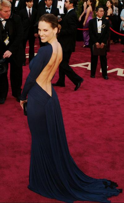 hilary swank oscar dress